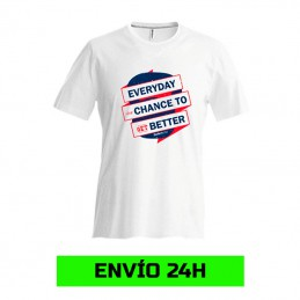 Camiseta manga corta blanca...